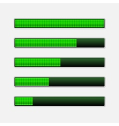 set green progress bars loading bars vector image