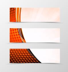 Set of header banner technologic design vector