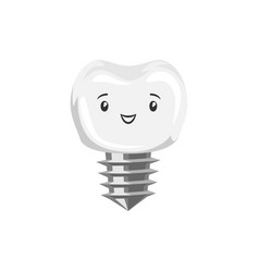 Smiling tooth implant vector