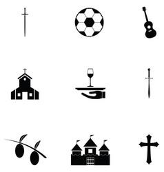 Spain icon set vector