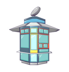 street shop kiosk icon cartoon style vector image