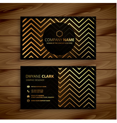 stylish black and golden zigzag shapes business vector image