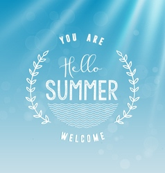 Summer Calligraphic Design in Vintage Style vector image