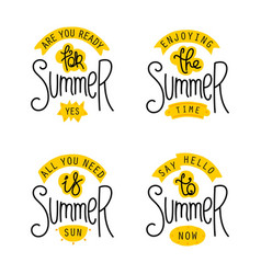 Summer labels and design elements vector