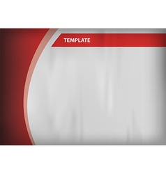 Template red curve side vector