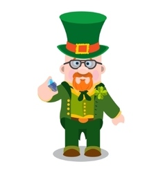 The man with a diamond St Patrick s Day vector