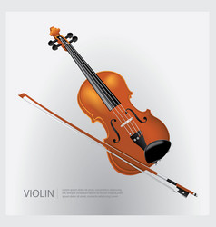 The musical instrument realistic violin vector