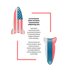 Usa and russia rockets banner vector