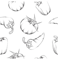 Vegetable pattern isolated vector image