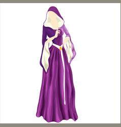 Violet dress 2 vector