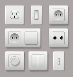 Wall switch power electrical socket electricity vector