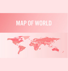 world map in modern design vector image