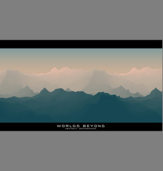 Worlds beyond abstract landscapes vector