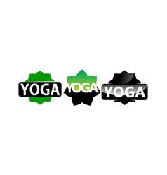 yoga lotus template set vector image