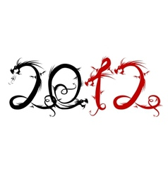 2012 year of dragon for your design vector image vector image