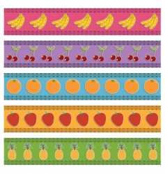 fruit borders vector image vector image