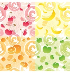 fruit texture vector image vector image