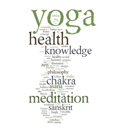YOGA Word collage on white background vector image