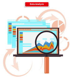 Concept Analysis and Data Analytics vector image