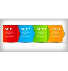 concept of business process improvements chart vector image vector image