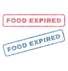 food expired textile stamps vector image