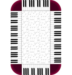 piano frame with dimmed backgorund vector image