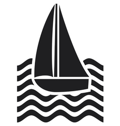 stylized yacht-sailboat vector image vector image
