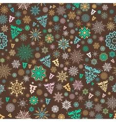 Vintage xmas pattern vector image