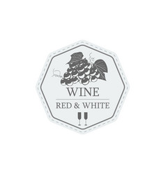wine red and white label vector image vector image