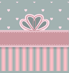 Abstract bow card vector image