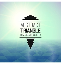 Abstract green sunset with blue triangle field vector image