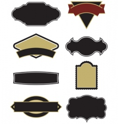 design elements for logos vector image