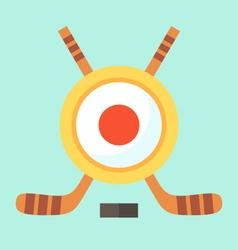 Hockey in Japan vector image vector image