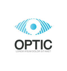 optic logo template vector image vector image