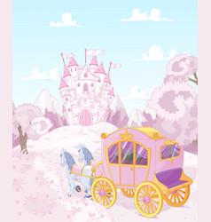 Princess Carriage Back to Kingdom vector image vector image
