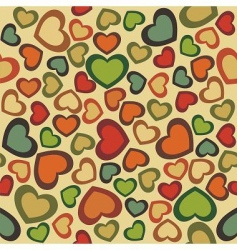 seamless hearts vector image vector image