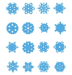 snowflakes 4 vector image vector image
