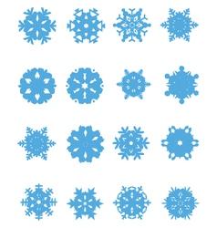 snowflakes 4 vector image