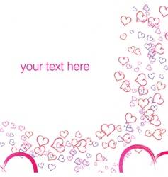 vector valentine background vector image vector image