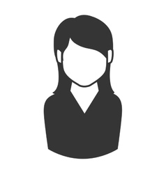 woman girl female hair person face head icon vector image