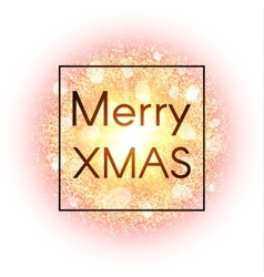 Christmas card on abstract explosion background vector image vector image