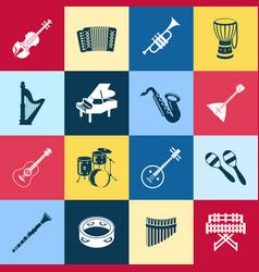 Digital green music instruments vector