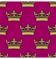 Heraldic seamless pattern with royal crowns vector image vector image
