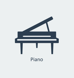piano icon silhouette icon vector image vector image