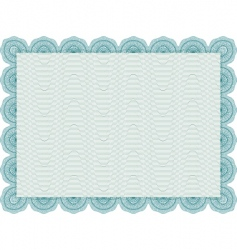 secure blank certificate vector image vector image