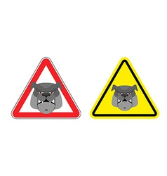 Warning sign attention dog Hazard yellow sign a vector image