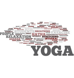 Yoga for modern city life hatha yoga most popular vector