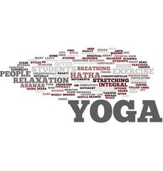 yoga for modern city life hatha yoga most popular vector image vector image