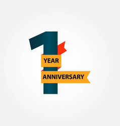 1 year anniversary template design vector