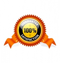 100% satisfaction guaranteed sign vector